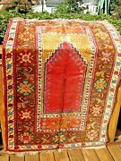 Antique 1900 -1910 Anatolian Turkish Ladik Rug Full Pile With Great Colors .