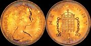 1976 Great Britain 1 New Penny Proof Unc Bu Beautiful Color Toned Purple Dr