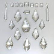 Antique Frenchandnbspcrystal Prisms Faceted Pendeloques And Icicles Set