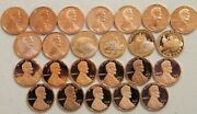 2000200920102021 S Lincoln Shield 25 Pennies With Minor Spots Or Toning