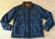 Wrangler Sherpa Lined Denim Coat 9 Pockets Concealed Carry Pocket Menand039s Small S