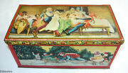 Tindeco Christmas Litho Tin Candy Treat Container