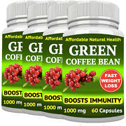 Green Coffee Bean Extract Weight Loss 1000 Mg Antioxidant Diet Detox 240 Capsule