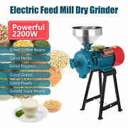 Wet And Dry 220v 1400r/min Electric Feed/flour Mill Cereals Grinder Grain Corn
