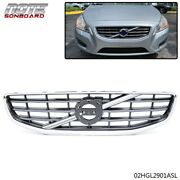 Chrome Front Center Grille Replacement Fit For 2011 2012 2013 Volvo S60 4-door
