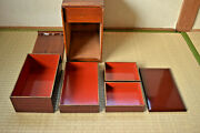 Japanese Mid C20th Urushii/lacquer Juubako/lunch Box [not/jewellery/coin/chinese