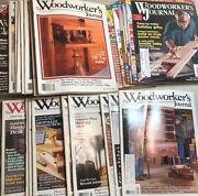 Lot Of 43 Woodworkers Journal Diy Woodworking Projects Magazines 1990's