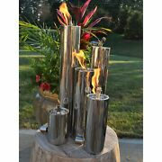Paraffin Oil Fire Pit Tabletop Outdoor Patio Heater Portable Fire Bowl Oil Can