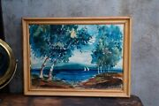 Original Water Color Painting On Paper Artist Signed George Richmond Hoxie Miami