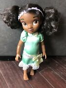 """Disney Animator Princess And The Frog Tiana Doll Aa Toddler 15"""" Used Dressed"""