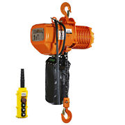 Prowinch 1 Ton Electric Chain Hoist Double Speed 2000 Lbs Load Capacity 20ft Lif