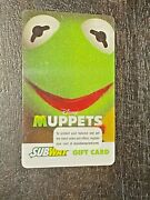 2014 Subway Canada The Muppets Kermit Collectible Gift Card Ncv Fr/eng 315