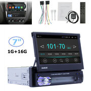 Single-din Bluetooth Car Stereo Player With 7 Lcd Touchscreen Gps Navigation