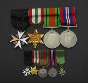 Wwi Wwii Father And Son Medal Pair - Service Medals Order Of St John St Lazarus
