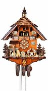 Cuckoo Clock Black Forest House With Moving Wood Sawers And Mi.. 5.8866.01.p New