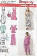Simplicity 4220 Pattern Misses Skirt Pants Pullover Dress Tunic Plus Size 16-24