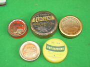 5 Vintage Hardy Cerolene Farlow Dope And Silk Line Treatment Tins