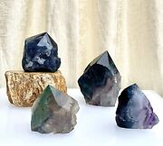 Wholesale Lot 2 Lbs Fluorite Semi Polished Points Crystal Natural Energy
