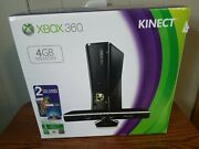 Xbox 360 With Kinect 4gb Black Matte Console 16 Games