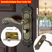 Security Privacy Door Entry Lever Continental Antique Mortise Handle Locks+ Keys