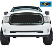 Eag Fits 13-18 Dodge Ram 1500 Rivet Grille Stainless Steel Wire Mesh With Shell