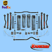 Lift Kit Suspension 4 Front And 3.5 Rear Lift Rancho For Jeep Wrangler 4wd 07-18