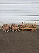 Lowenbrau 1920's Antique Beer Wagon, 4 Horses, 1 Rider Collectible