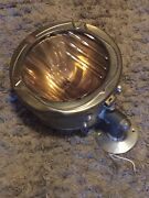 Early 1900s Cadillac Headlight Converted To 110v With Bausch And Lomb Lens.