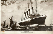 Rms Olympic Oversize Book Post Card White Star Line And Titanic Interest