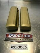 1966 67 68 69 70 B-body Dodge Plymouth Armrest Pads 9.5 630 Gold