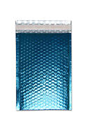 2500 Pieces Glamour Blue Metallic Poly Bubble Padded Mailer 7 ½ X 11 Inches