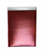 2500 Pieces Glamour Red Metallic Poly Bubble Padded Mailer 7 ½ X 11 Inches