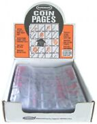 Supersafe Vinyl Coin Pages 1.5x1.5 30 Pocket For 3 Ring Album/binders Box Of 100