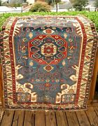 Antique 1890-1900 Caucasian Fine Shirvan Rug Great Color And Design 5and0397 X