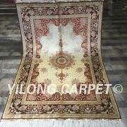 Yilong 4and039x6and039 Antique Handmade Area Rug Top Classic Hand Knotted Silk Carpet 064a