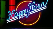 New Happy Hour Logo Neon Light Sign 20x16 Beer Cave Gift Lamp Real Glass