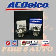 Ac Delco 185 And 180 Degree Thermostat Front And Rear Kit Pair For Gm Pickup Duramax
