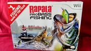 Wii Rapala Pro Bass Fishing Game And Rod [activision] 1 Fishing Game Of The Year