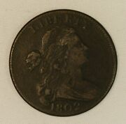 1802 Draped Bust Copper Large Cent. Very Fine Coin Clear Date.