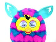 Furby Boom Interactive Plush Toy Pink Blue Hearts Talking 2012 Works 2 Voices