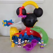 Disney Mickey Mouse Fly 'n Slide Clubhouse Playset 4 Figures
