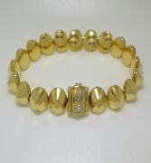 18k Yellow Gold Bracelet Diamond Made In Italy Brand Chimento High Discount 35