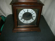 Vintage Linden Trichime Mantle Clock With Cuckoo Clock Mfg 1050-021 Movement
