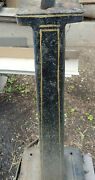 Antique Industrial Metal Stand With Original Pin Stripe Paint