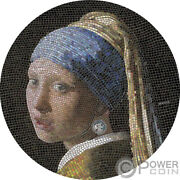 Girl Pearl Earring Great Micromosaic Passion 3 Oz Silver Coin 20 Palau 2019
