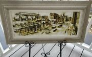 Great Midcentury Panoramic Painting Of San Francisco Signed Paul – Martin Lowitz