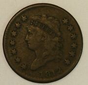 1812 Classic Head Copper Large Cent. Fine Looking, Date, Letters Sharp Clear.