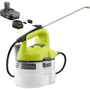 Ryobi One+ 18 Volt Lithiumion Cordless Chemical Sprayer Battery And Charger