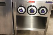 Amtekco 24andprime Stainless Slushie Pop Soda Machine Table Cabinet W/ Cup Holders 2andprime