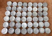 48 Old Vintage Ball Zinc Canning Jar Metal Cap Lids Circles And Numbers All Tested